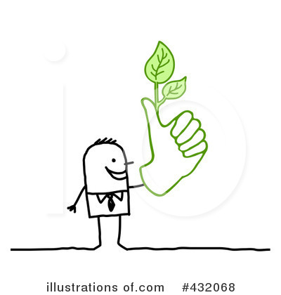 Royalty-Free (RF) Green Thumb Clipart Illustration by NL shop - Stock Sample #432068