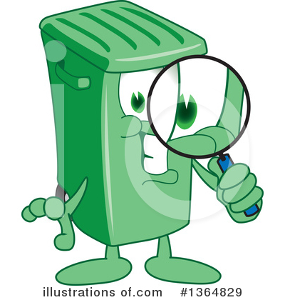 Green Trash Can Clipart #1364829 by Toons4Biz