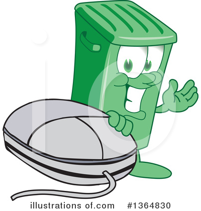 Green Trash Can Clipart #1364830 by Toons4Biz