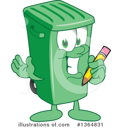 Green Trash Can Clipart #1364831 by Toons4Biz