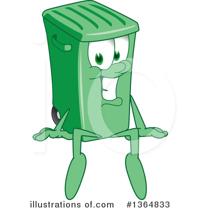 Green Trash Can Clipart #1364833 by Toons4Biz