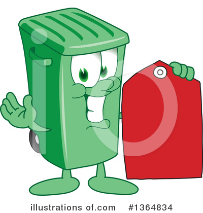 Green Trash Can Clipart #1364834 by Toons4Biz