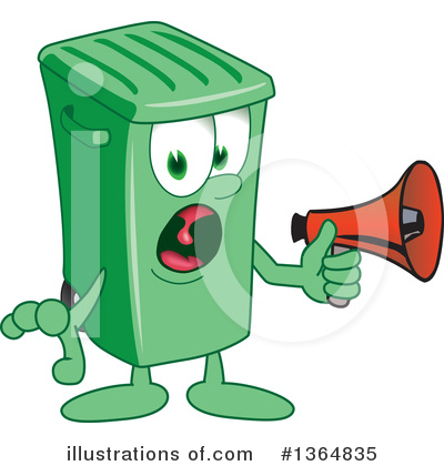 Green Trash Can Clipart #1364835 by Toons4Biz