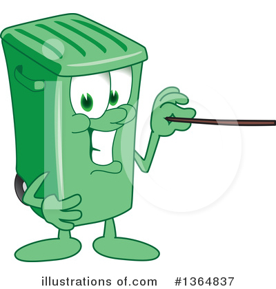 Green Trash Can Clipart #1364837 by Toons4Biz