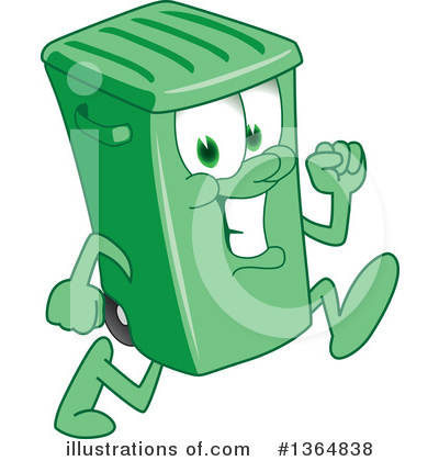 Green Trash Can Clipart #1364838 by Toons4Biz