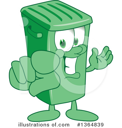 Green Trash Can Clipart #1364839 by Toons4Biz