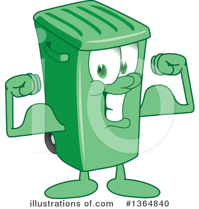 Green Trash Can Clipart #1364840 by Toons4Biz