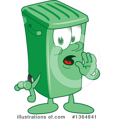 Green Trash Can Clipart #1364841 by Toons4Biz