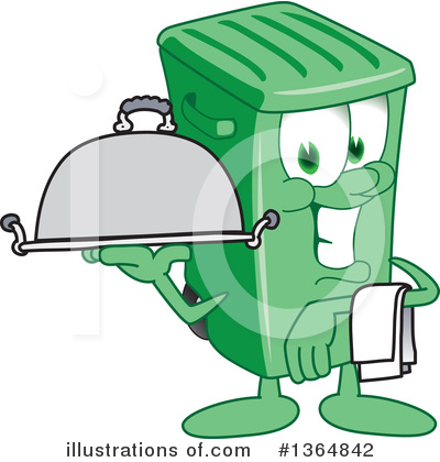 Green Trash Can Clipart #1364842 by Toons4Biz