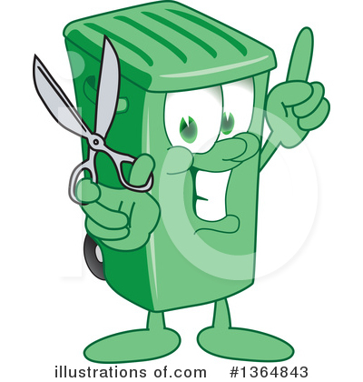 Green Trash Can Clipart #1364843 by Toons4Biz