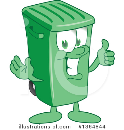 Green Trash Can Clipart #1364844 by Toons4Biz