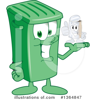 Trash Can Character Clipart #1364847 by Toons4Biz