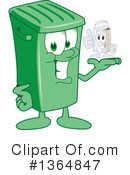 Green Trash Can Clipart #1364847 by Toons4Biz