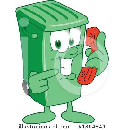 Green Trash Can Clipart #1364849 by Toons4Biz