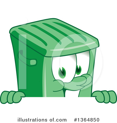 Green Trash Can Clipart #1364850 by Toons4Biz