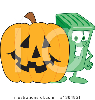 Green Trash Can Clipart #1364851 by Toons4Biz
