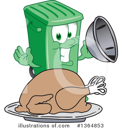 Royalty-Free (RF) Green Trash Can Clipart Illustration by Toons4Biz - Stock Sample #1364853