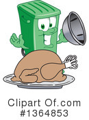 Green Trash Can Clipart #1364853 by Toons4Biz
