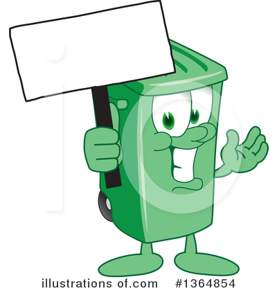 Green Trash Can Clipart #1364854 by Toons4Biz