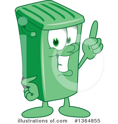 Green Trash Can Clipart #1364855 by Toons4Biz