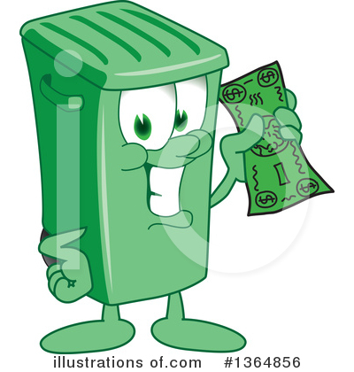 Green Trash Can Clipart #1364856 by Toons4Biz