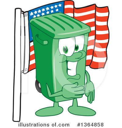 Green Trash Can Clipart #1364858 by Toons4Biz