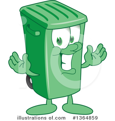 Trash Can Character Clipart #1364859 by Toons4Biz