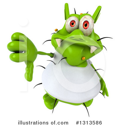 Green Virus Clipart #1313586 by Julos