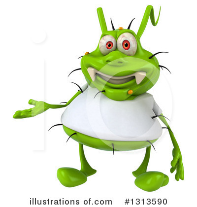 Royalty-Free (RF) Green Virus Clipart Illustration by Julos - Stock Sample #1313590