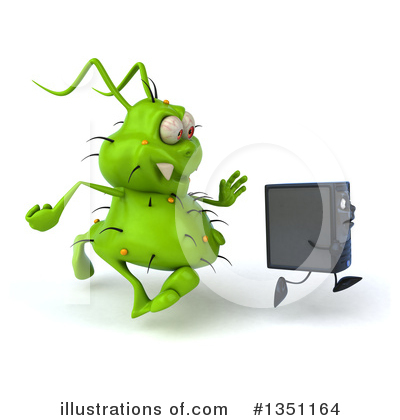 Green Virus Clipart #1351164 by Julos