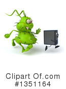 Royalty-Free (RF) Green Virus Clipart Illustration #1351164