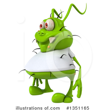Green Virus Clipart #1351165 by Julos