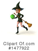 Green Witch Clipart #1477922 by Julos