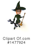 Green Witch Clipart #1477924 by Julos