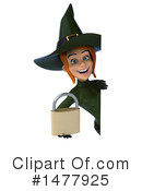 Green Witch Clipart #1477925 by Julos