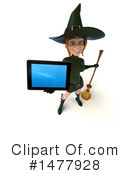 Green Witch Clipart #1477928 by Julos