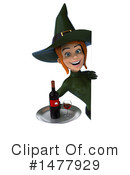 Green Witch Clipart #1477929 by Julos