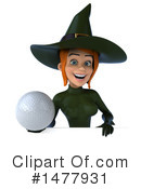 Green Witch Clipart #1477931 by Julos