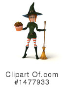 Green Witch Clipart #1477933 by Julos