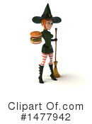 Green Witch Clipart #1477942 by Julos