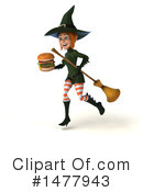 Green Witch Clipart #1477943 by Julos