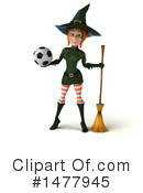 Green Witch Clipart #1477945 by Julos