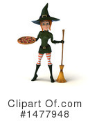 Green Witch Clipart #1477948 by Julos