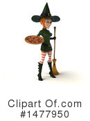 Green Witch Clipart #1477950 by Julos
