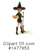 Green Witch Clipart #1477953 by Julos