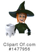 Green Witch Clipart #1477956 by Julos