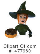Green Witch Clipart #1477960 by Julos