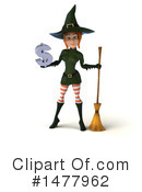 Green Witch Clipart #1477962 by Julos
