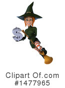 Green Witch Clipart #1477965 by Julos