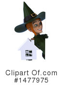 Green Witch Clipart #1477975 by Julos